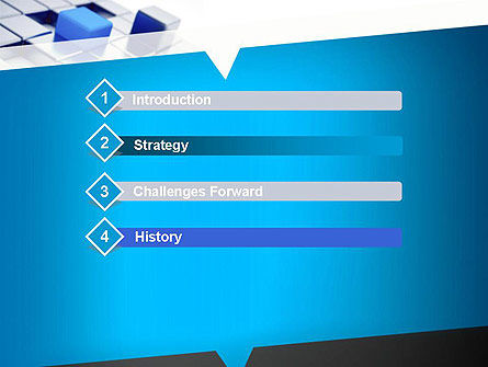 Abstract Blue Cubes PowerPoint Template Slide 3