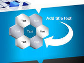 Abstract Blue Cubes PowerPoint Template#11