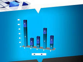 Abstract Blue Cubes PowerPoint Template#17