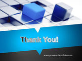 Abstract Blue Cubes PowerPoint Template#20