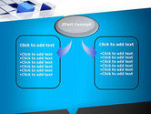 Abstract Blue Cubes PowerPoint Template#4