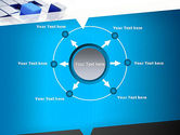 Abstract Blue Cubes PowerPoint Template#7