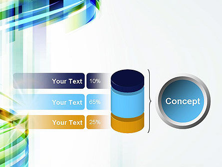 Set Of Abstract Waves PowerPoint Template Slide 11