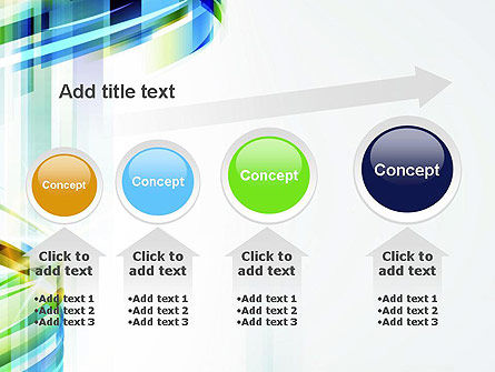 Set Of Abstract Waves PowerPoint Template Slide 13