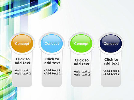 Set Of Abstract Waves PowerPoint Template Slide 5