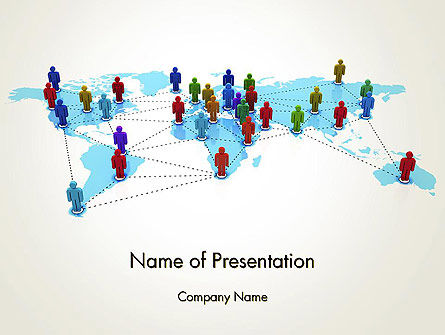 Global Virtual Teams PowerPoint Template, 13312, Global — PoweredTemplate.com