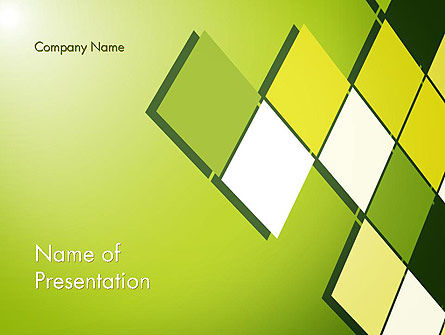 Green Abstract Squares PowerPoint Template