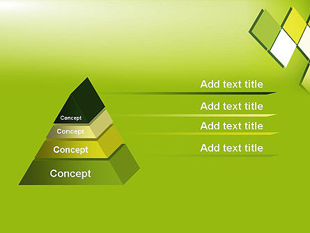 Green Abstract Squares PowerPoint Template Slide 12