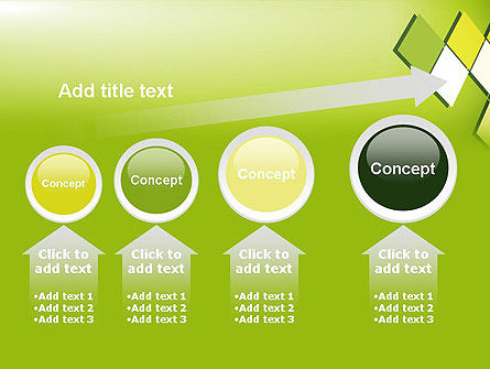Green Abstract Squares PowerPoint Template Slide 13