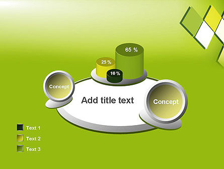 Green Abstract Squares PowerPoint Template Slide 16