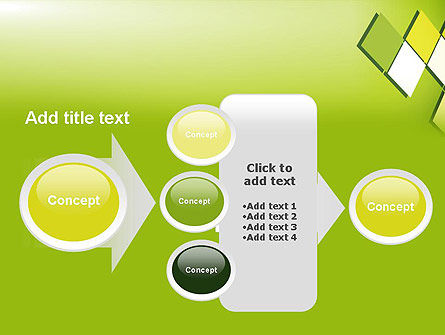 Green Abstract Squares PowerPoint Template Slide 17