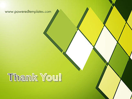 Green Abstract Squares PowerPoint Template Slide 20