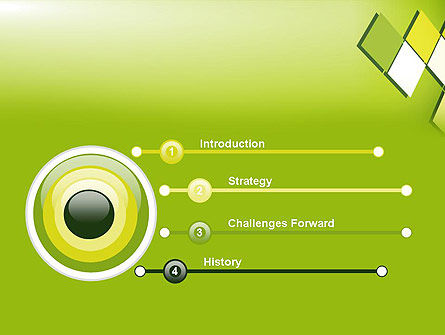 Green Abstract Squares PowerPoint Template Slide 3