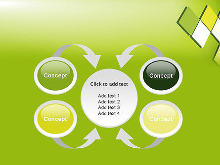 Green Abstract Squares PowerPoint Template Slide 6