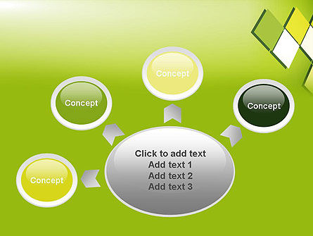 Green Abstract Squares PowerPoint Template Slide 7