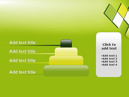 Green Abstract Squares PowerPoint Template Slide 8