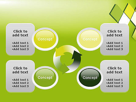 Green Abstract Squares PowerPoint Template Slide 9