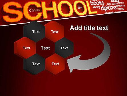 School Word Cloud PowerPoint Template Slide 11
