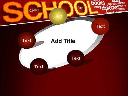 School Word Cloud PowerPoint Template Slide 14