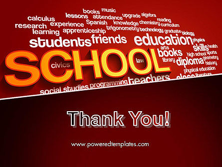 School Word Cloud PowerPoint Template Slide 20