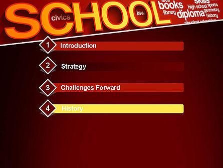 School Word Cloud PowerPoint Template Slide 3