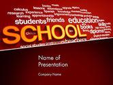Education & Training: School Word Cloud PowerPoint Template #13316