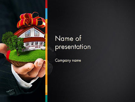 real estate delivery service powerpoint template backgrounds
