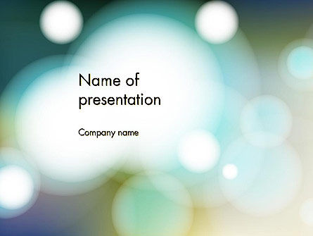 Abstract/Textures: Blurred Vision PowerPoint Template #13319