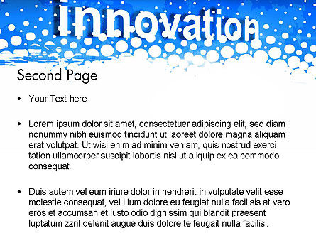 Innovation Button PowerPoint Template Slide 2