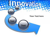 Innovation Button PowerPoint Template#6