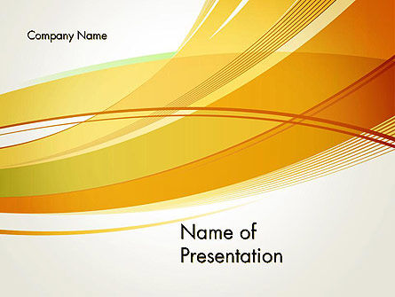 Overlapping Yellow Waves PowerPoint Template