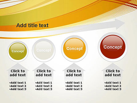 Overlapping Yellow Waves PowerPoint Template Slide 13