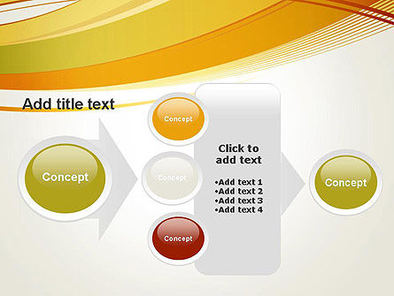 Overlapping Yellow Waves PowerPoint Template Slide 17