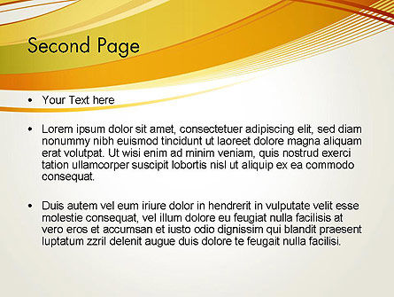 Overlapping Yellow Waves PowerPoint Template Slide 2