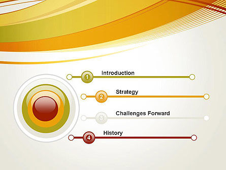 Overlapping Yellow Waves PowerPoint Template Slide 3