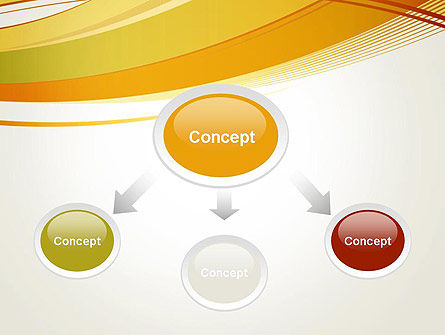 Overlapping Yellow Waves PowerPoint Template Slide 4