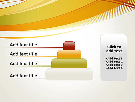 Overlapping Yellow Waves PowerPoint Template Slide 8