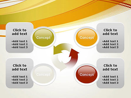 Overlapping Yellow Waves PowerPoint Template Slide 9