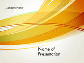 Abstract/Textures: Overlapping Yellow Waves PowerPoint Template #13322