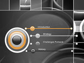 Grid with Clock Faces PowerPoint Template#3