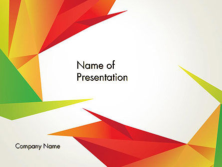 Origami Abstract Triangles Powerpoint Template, Backgrounds
