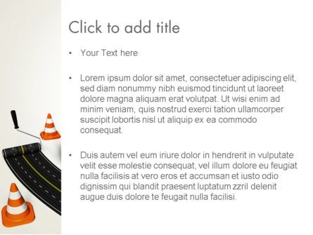 Road Construction Concept PowerPoint Template, Slide 3, 13327, Construction — PoweredTemplate.com