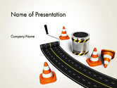 Construction: Road Construction Concept PowerPoint Template #13327