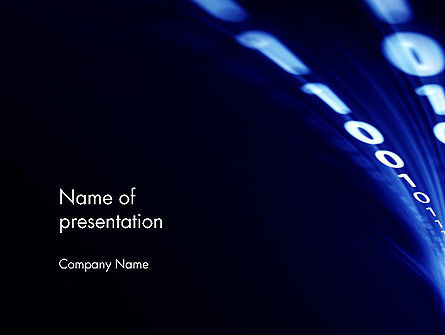 Information Flow PowerPoint Template, 13328, Telecommunication — PoweredTemplate.com