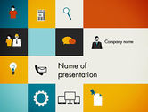 Business: Grid Layout Design PowerPoint Template #13329