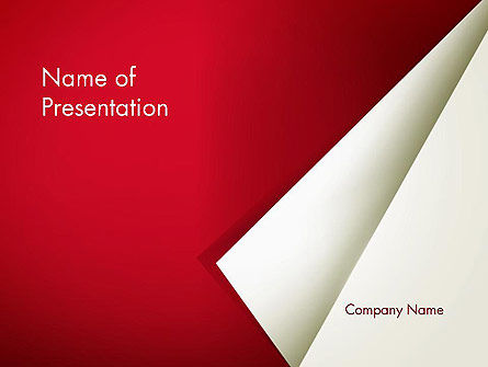 Folded Sheet of Paper PowerPoint Template