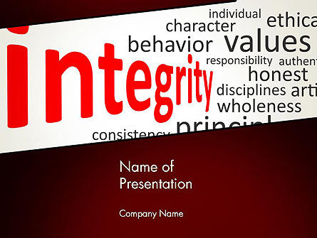 Integrity Word Cloud PowerPoint Template, 13333, Consulting — PoweredTemplate.com