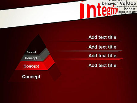 Integrity Word Cloud PowerPoint Template Slide 12