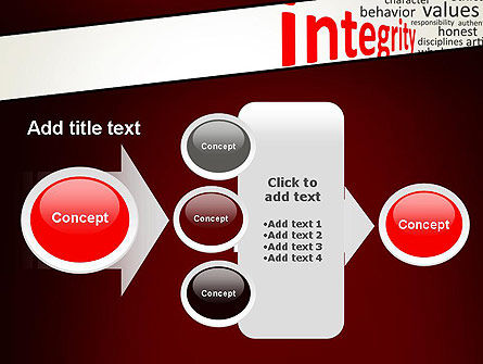 Integrity Word Cloud PowerPoint Template Slide 17
