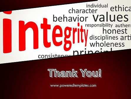 Integrity Word Cloud PowerPoint Template Slide 20